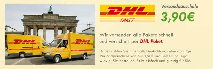 Versandkostenpauschale innerhalb Deutschlands: 3,90 EUR