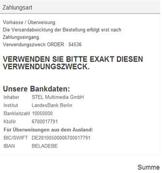 Bankdaten Angeben