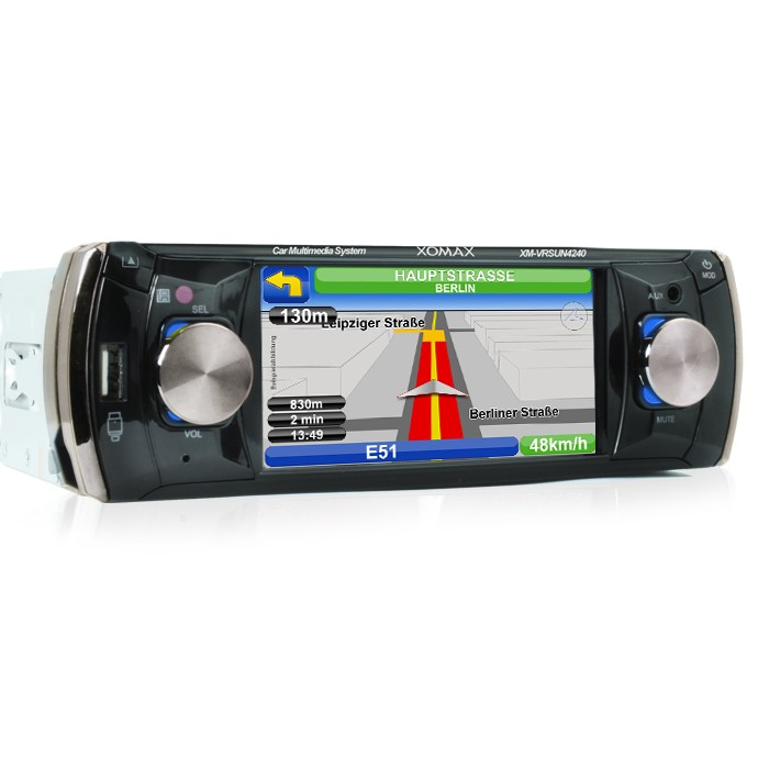 car stereo with navi navigation 11cm touchscreen usb sd 64gb rds 1din naviceiver ebay. Black Bedroom Furniture Sets. Home Design Ideas