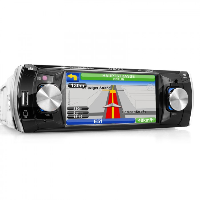 autoradio mit navigation navi bluetooth touchscreen dvd cd. Black Bedroom Furniture Sets. Home Design Ideas