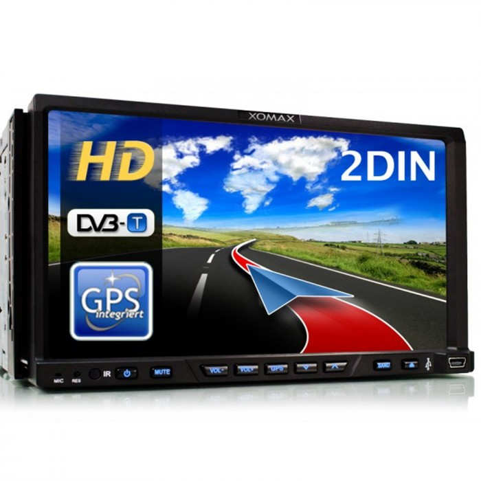 autoradio mit gps navigation navi dvb t bluetooth. Black Bedroom Furniture Sets. Home Design Ideas