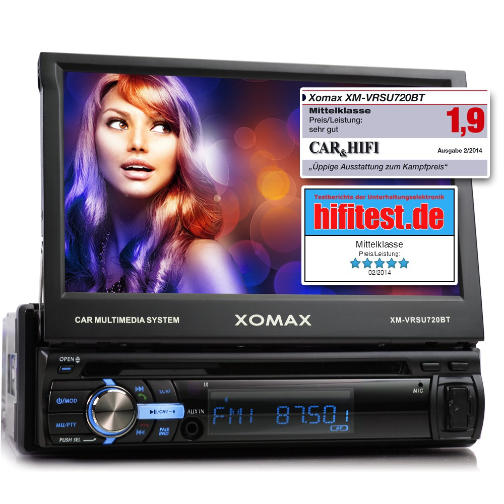 AUTORADIO-MIT-7-034-18cm-TOUCHSCREEN-BLUETOOTH-USB-SD-MP3-ID3-1DIN-VIDEO-MONICEIVER