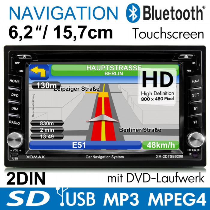 AUTORADIO-MIT-GPS-NAVIGATION-NAVI-BLUETOOTH-TOUCHSCREEN-DVD-CD-USB-SD-MP3-2DIN