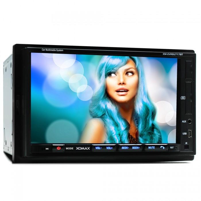 AUTORADIO-MIT-BLUETOOTH-18cm-TOUCHSCREEN-USB-SD-64GB-MP3-AUX-RDS-2DIN-MONICEIVER