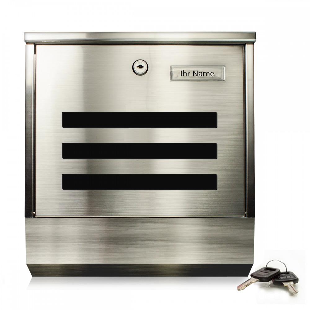 t ga 2210d designer edelstahl briefkasten 430er edelstahl. Black Bedroom Furniture Sets. Home Design Ideas