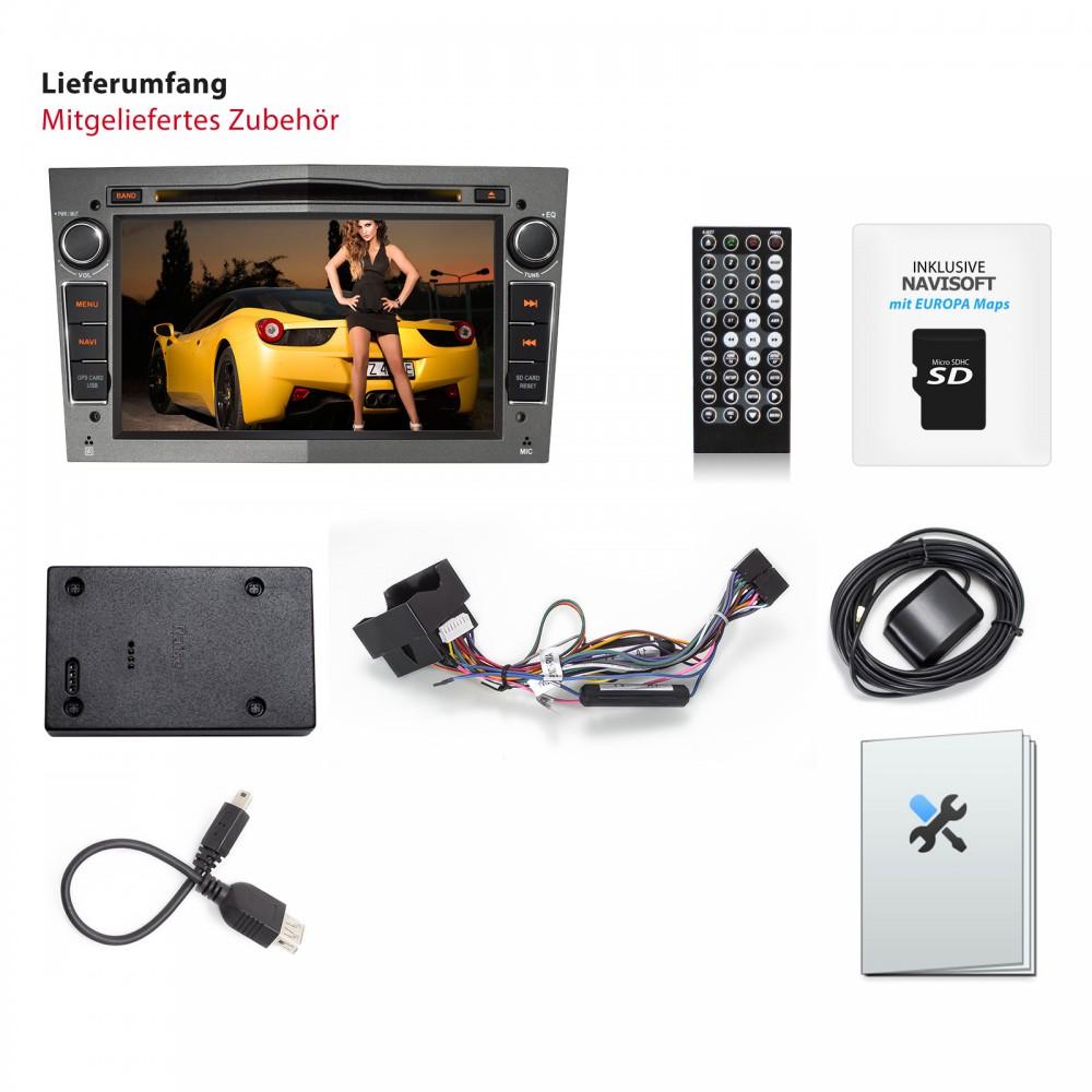 opel 18cm 7 naviceiver autoradio mit dvd laufwerk und. Black Bedroom Furniture Sets. Home Design Ideas
