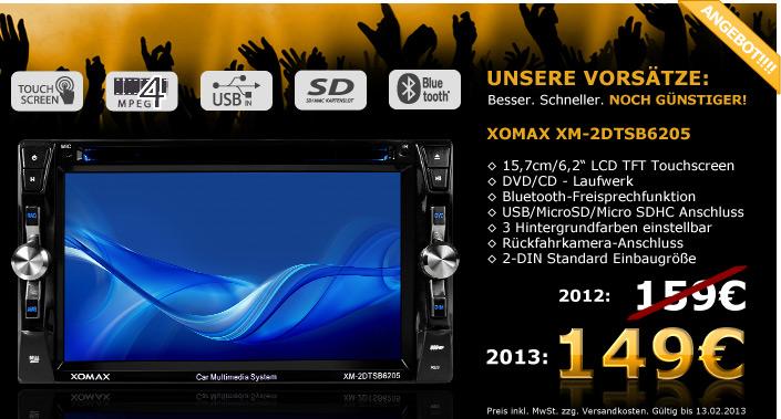 2DIN Autoradio mit Video Funkion und großem Touchscreen